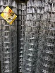 Galvanized Iron Silver GI Fencing Wire Mesh, For Construction, Packaging Type: Roll