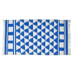 Rectangular Woven Earthy Cotton Panja Rug, For Home, Size: 4x6
