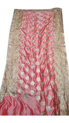 6.3 m Wedding Cracker Silk Saree, With Blouse Piece