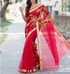 5.5 m (separate blouse piece) Festive Wear Pure Silk Jamdani Saree
