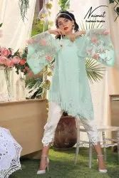 Naimat Fashion Studio Georgette Top With Cigarette Pant