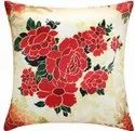Beautiful Red Flower Printed Cushion Cover