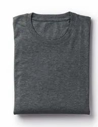 Plain Charcoal Grey 180 Cotton T shirt