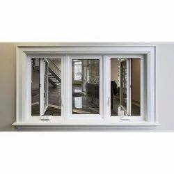 White Modern Hinged Aluminium Casement Window