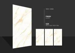 Glossy White 2x4 Polished Glazed Vitrified Tiles, Thickness: 8 - 10 Mm, Size: 600x1200mm