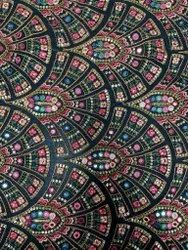 Georgette Allover Fancy Fabrics-Color/Embroidered