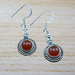 Sterling Silver Nice Carnelian Gemstone Jewelry Beautiful Earring WE-3993