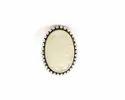 925 Sterling Silver Rainbow Gemstone Adjustable Ring