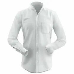 Formal Wear Cotton Men White Casual Shirt