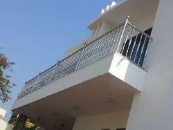 Ss Round Pipe Balcony Steel Railing