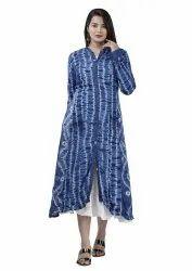 Indigo Blue Cotton Ladies Kurti