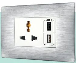 Polycarbonate Modular USB Charger, For Mobile Charging, Number Of Sockets: 1 Or 2