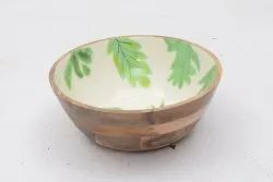 Multicolor Wooden Kitchen Bowl, For Home