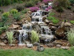 Red Garden Waterfall