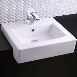 Rectangular Plain Counter Top Wash Basin