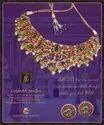 22k Gold South Indian Kundan Necklace