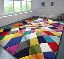 Multicolor Designer woolen handmadeCarpet, For Can be useful for anywhere, Modern