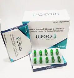 Vitamin E Omega 3 Fatty Acid And Wheat Germ Oil Softgel Caps