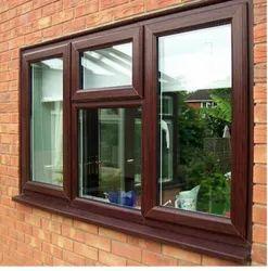 Brown UPVC Window, Glass Thickness: 6 Mm