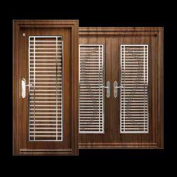 Wooden Steel Safety Door