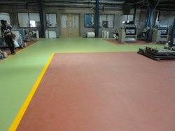 Industries Heavy Duty Flooring Service, For Indoor, Anti-Skidding
