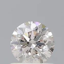0.70ct Round Brilliant Very Light Pinkish Brown SI1 GIA Certified Natural Diamond