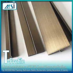 T-Profiles Antique Brass Finish (6mm, 8mm, 10mm, 12mm, 16mm, 19mm, 25mm)