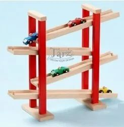Wooden Slippery Car Track Toy- 01