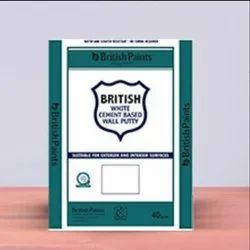 British Paints White Cement Based Wall Putty, For Interior