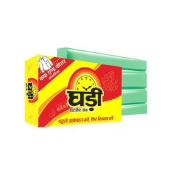 Original Green Ghadi Detergent Cake MRP 10, Shape: Rectangle, Packaging Size: 190gm