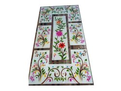 Multicolor Floral Designer Decorative Glass, For Home, Size: 48