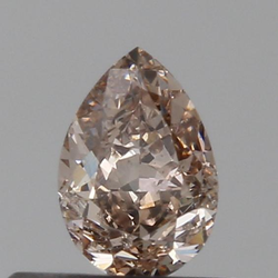 Pear 0.50ct Fancy Light Pinkish Brown SI2 GIA Certified Natural Diamond