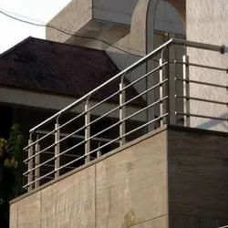 PIPE Stainless Steel Balcony Railing, For Balconey