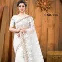 Net Badla Jari Embroidery Work Saree Catalog -10 Pcs