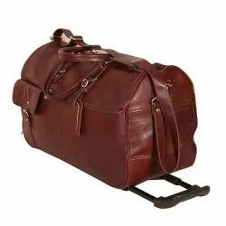 Brown Leather Luggage Bags