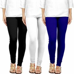 Churidar Plain Ladies Casual Cotton Lycra 2 way Leggings