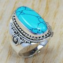 Indian Chalcedony Gemstone 925 Sterling Silver Women Ring SJWR-720