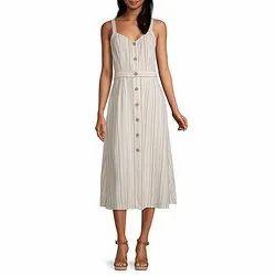 Surplus Ladies Stripes A Line Dresses