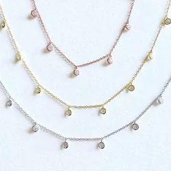 Diamond Choker Necklace, Choker Necklace, Layering Necklace, Dainty Necklace, Delicate Choker