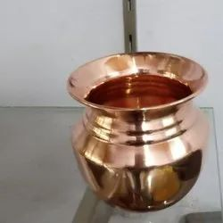 Plain Copper Lota, For Home, Size: 4