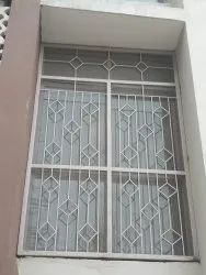Paint Coated White Iron Window Grill
