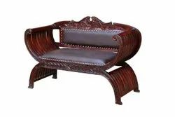 150 X 78 X 90 Cm Brown Solid Wood Arm Chair