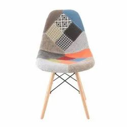 Modern Multicolor Patchwork Chair, For Cafe