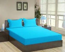 金达尔家棉海绿缎条纹染色双床床单,适合家庭,酒店,尺寸:90 X 100英寸