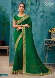 Party Wear Vichitra Silk Saree