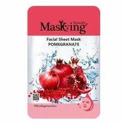 MASKING BEAUTY - POMEGRANATE FACIAL SHEET MASK
