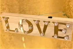 Royal Wooden LED Photo Frame, For Decoration, Size: 5 X 16 X 1.2 Inch