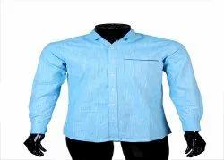 Full Sleeves Regular Fit Sky Blue Plain Shirt