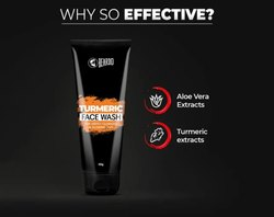 Herbal Black Beardo Turmeric Facewash for Men (100g)(MRP-250)
