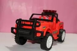 Red Plastic Jeep Toy